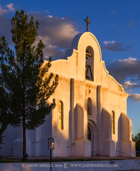 2014082817, Last light on San Elizario Presidio Chapel