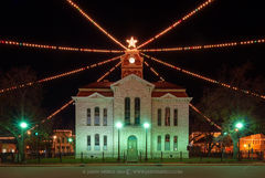 Lampasas, Lampasas County courthouse, Texas county courthouse, Christmas
