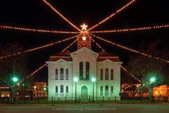 Lampasas, Lampasas County courthouse, Texas county courthouse, Christmas
