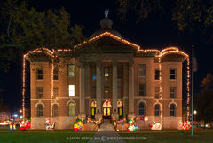 San Marcos, Hays County courthouse, Texas county courthouse, retired, Christmas
