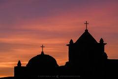 Presidio Nuestra Señora de Loreto de la Bahía, Goliad, South Texas, Presidio la Bahía, sunset