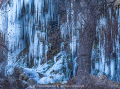 Colorado Bend State Park, Texas Hill Country, San Saba County, Gorman Falls, limestone, waterfall, icicles, frozen