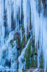 Colorado Bend State Park, Texas Hill Country, San Saba County, Gorman Falls, icicles, waterfall, frozen