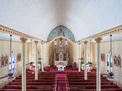 Queen of Peace Catholic Church, Sweet Home, Lavaca County, Painted Churches of Texas
