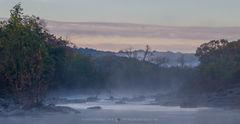 2018110401, Steam fog on Cherokee Creek