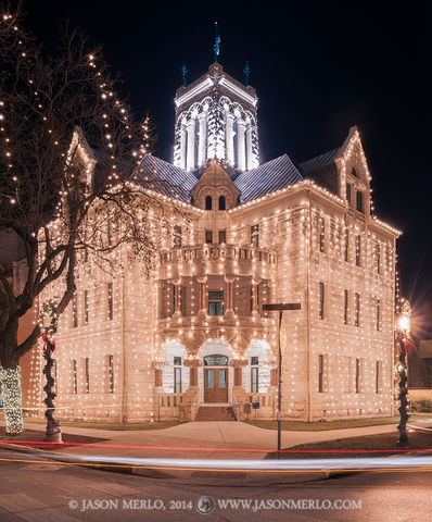 New Braunfels, Comal County courthouse, Texas county courthouse, Christmas