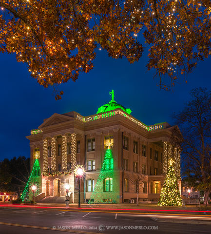 Georgetown, Williamson County courthouse, Texas county courthouse, Christmas
