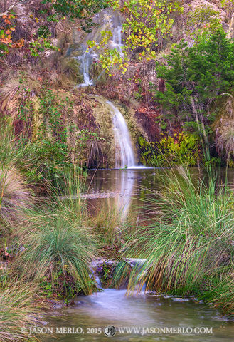 Colorado Bend State Park, Texas Hill Country, San Saba County, Spicewood Springs Creek, waterfall