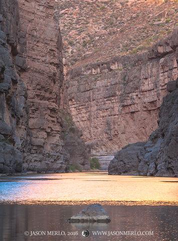 Big Bend National Park, Brewster County, West Texas, Chihuahuan Desert, river, Rio Grande, Santa Elena Canyon