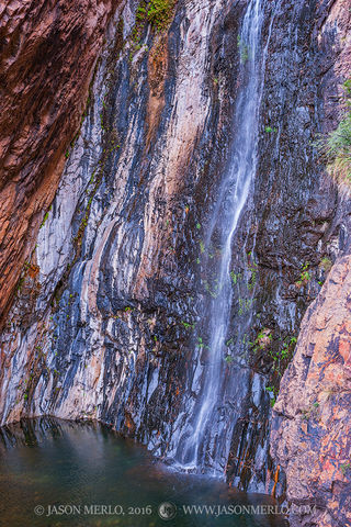 Big Bend National Park, Brewster County, West Texas, Chihuahuan Desert, Cattail Falls, waterfall