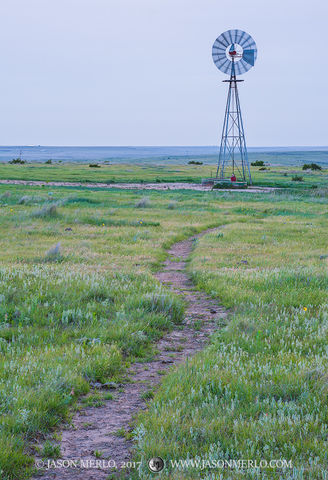 Armstrong County, Claude, Texas Panhandle Plains, North Texas, West Texas, Llano Estacado, High Plains, windmill