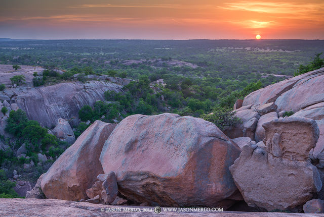 Enchanted Rock State Natural Area, state park, Texas, Hill Country, Llano, Fredericksburg, Llano County, Gillespie County, Llano Uplift, sunset
