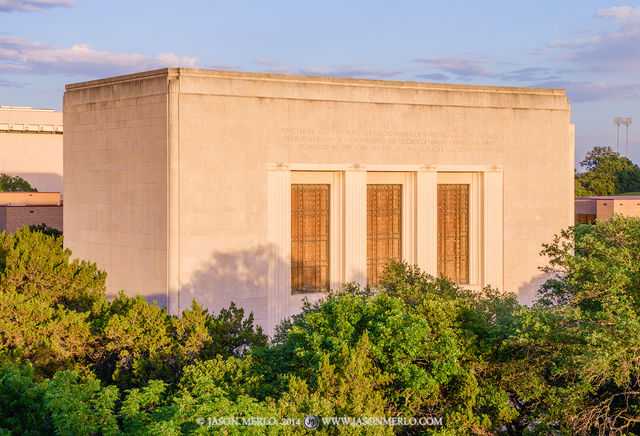 Austin, University of Texas, campus, Texas Memorial Museum, sunset