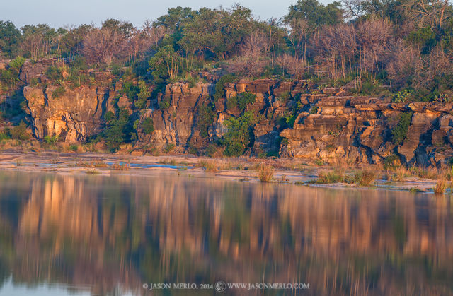 Pedernales Falls State Park, Texas Hill Country, Blanco County, Johnson City, Dripping Springs, Pedernales River, reflection