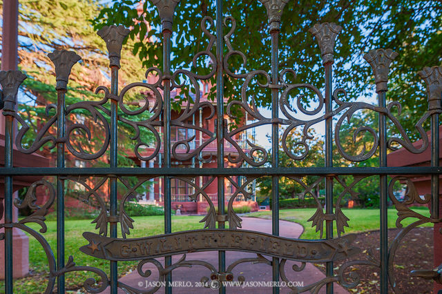 Austin, University of Texas, campus, gate, George Littlefield, house, home