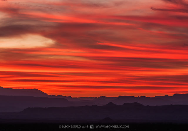 Big Bend National Park, Brewster County, West Texas, Chihuahuan Desert, sunset, Mesa de Anguila