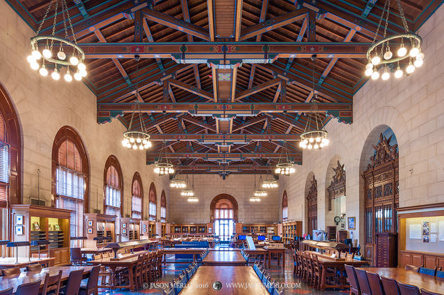 Austin, University of Texas, campus, Architecture and Planning Library, Reading Room