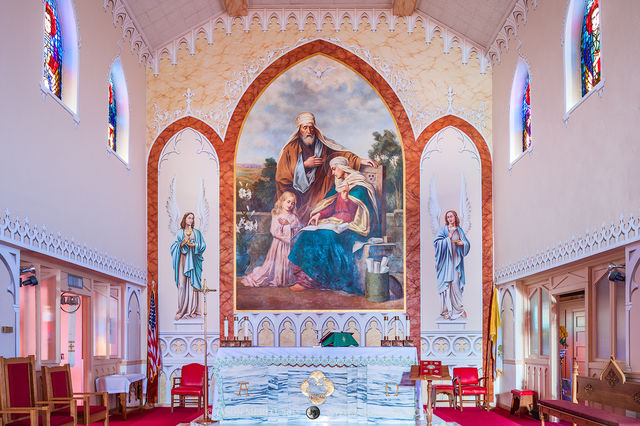 St. Ann's Catholic Church, Kosciusko, Wilson County, Painted Churches of Texas