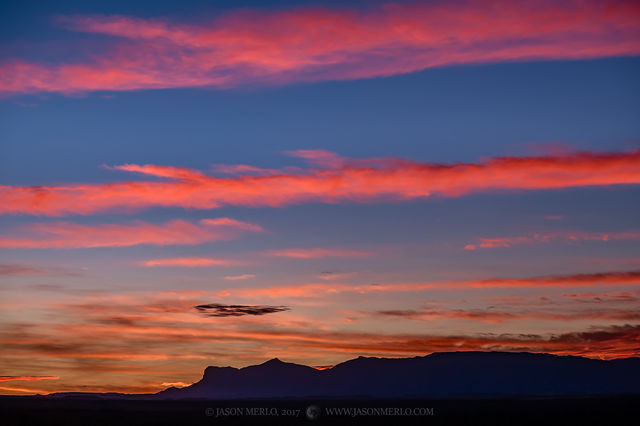 Guadalupe Mountains, West Texas, Culberson County, Chihuahuan Desert, sunset