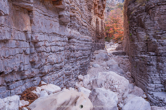 Guadalupe Mountains National Park, West Texas, Culberson County, Chihuahuan Desert, Pine Springs Canyon, Devil's Hall, slot canyon