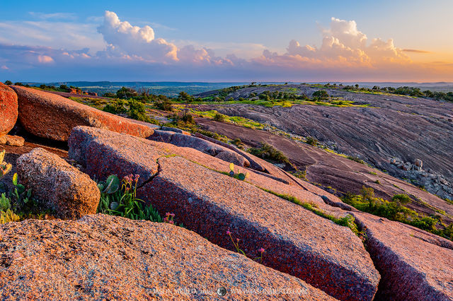 Enchanted Rock State Natural Area, Texas Hill Country, Llano, Fredericksburg, Llano County, Llano Uplift, granite, sunset