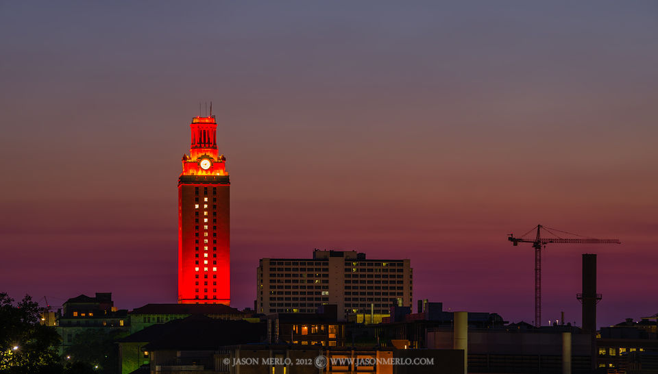 Austin, University of Texas, campus, Tower, Golf, national championship, 2012