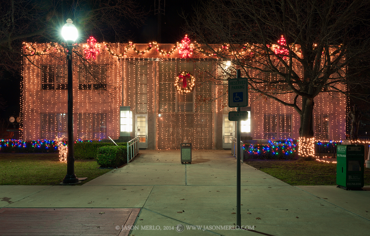 Burnet, Burnet County courthouse, Texas county courthouse, Christmas, photo