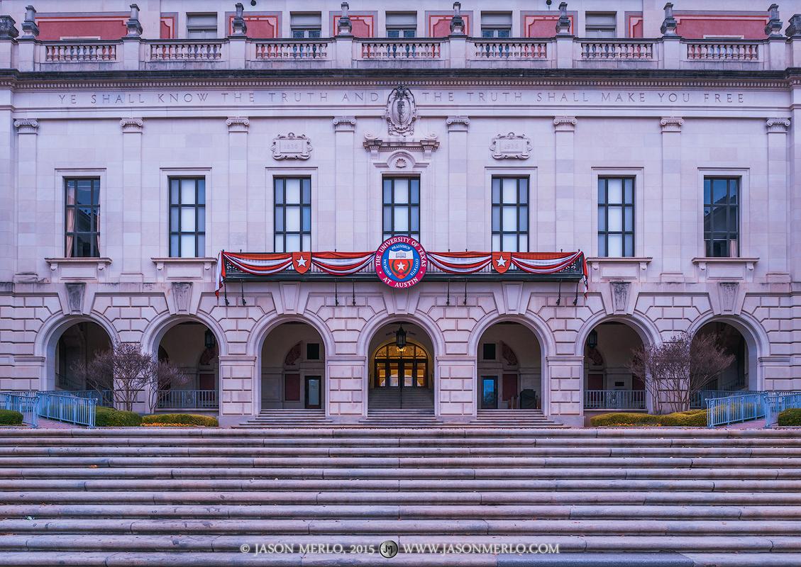Austin, University of Texas, campus, Main Building, seal, Explore UT, photo