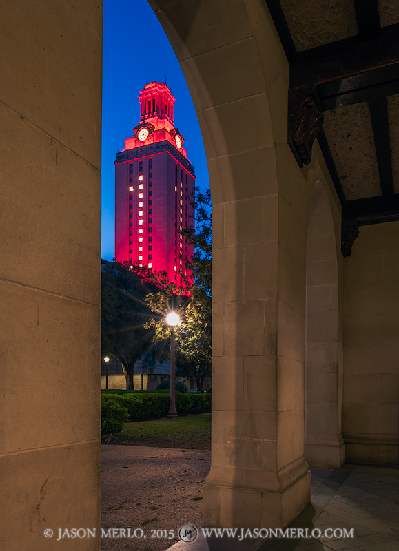 Austin, University of Texas, campus, Tower, Swimming and Diving, national championship, Garrison Hall, arches, photo