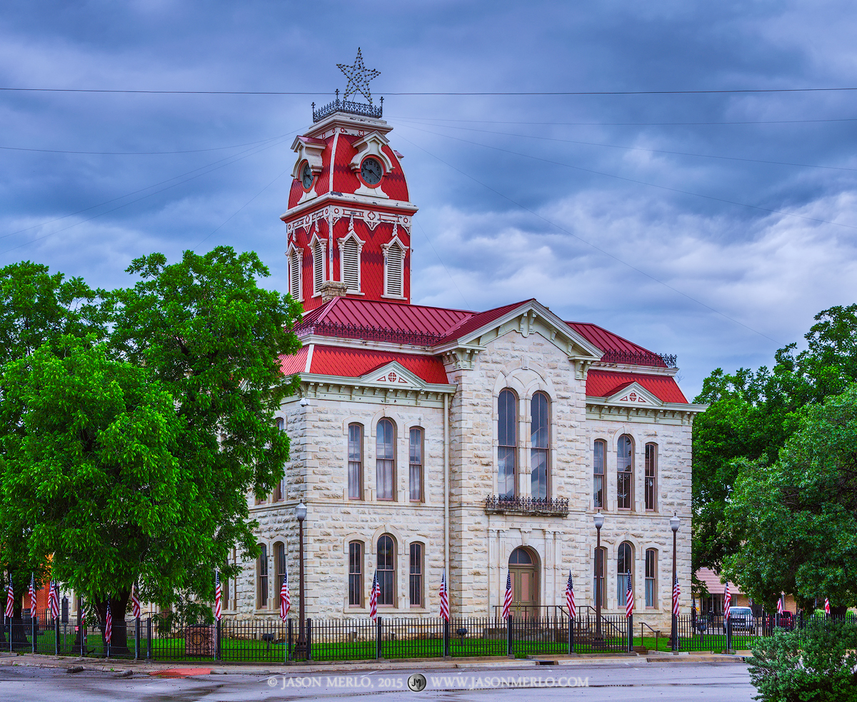Lampasas, Lampasas County courthouse, Texas county courthouse, photo
