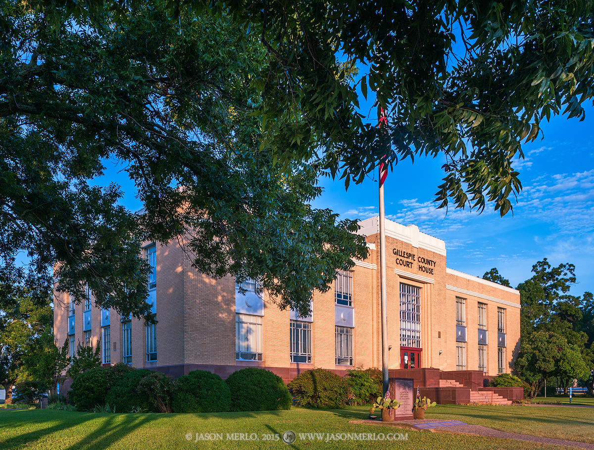Fredericksburg, Gillespie County courthouse, Texas county courthouse, photo