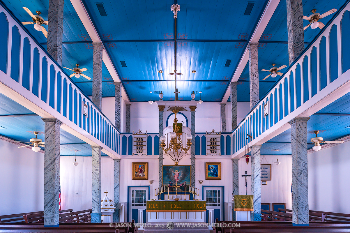 St. Paul Lutheran Church in Serbin, one of the Painted Churches of Texas.