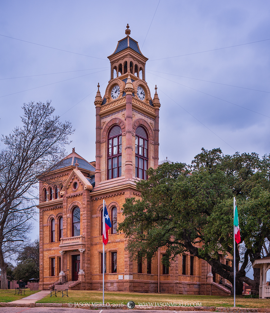 The Llano County courthouse in Llano, Texas.