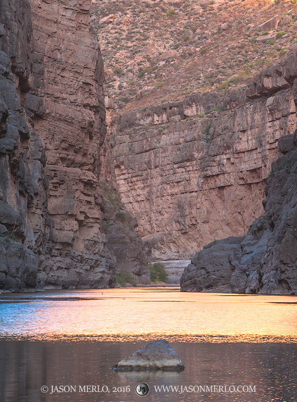 Big Bend National Park, Brewster County, West Texas, Chihuahuan Desert, river, Rio Grande, Santa Elena Canyon, photo