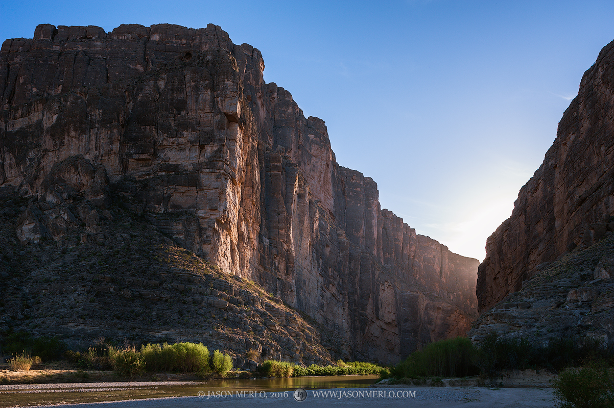 Big Bend National Park, Brewster County, Texas, West Texas, Chihuahuan Desert, Rio Grande, river, Santa Elena Canyon, photo