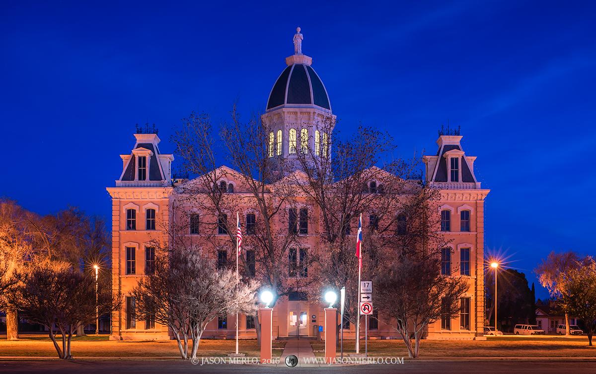 Marfa, Presidio County courthouse, Texas county courthouse, photo