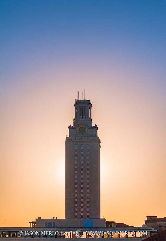 Austin, University of Texas, campus, Tower, sunrise, photo
