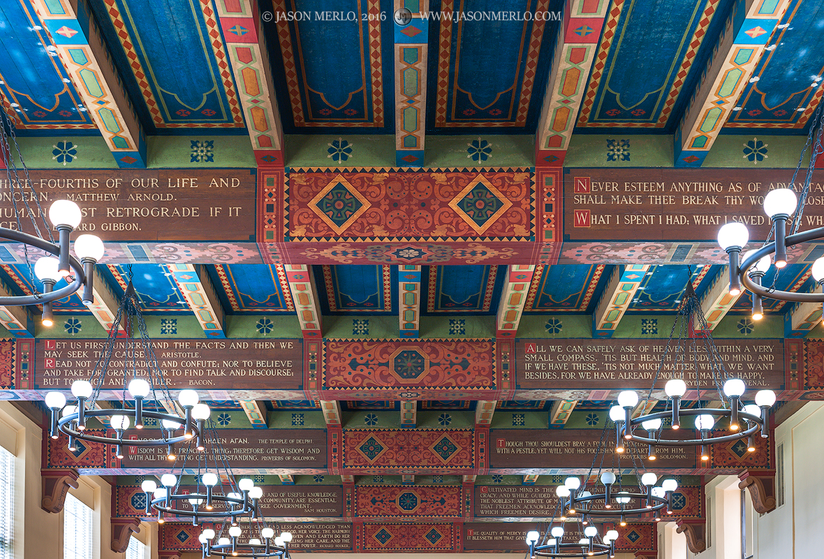 Austin, University of Texas, campus, Hall of Noble Words, ceiling, photo