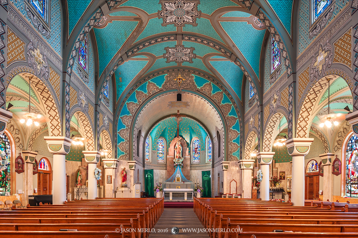 Immaculate Heart of Mary Church in San Antonio, one of the Painted Churches of Texas.