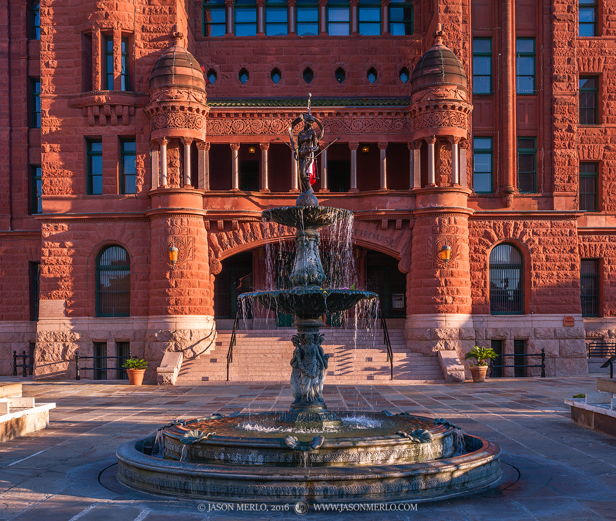 San Antonio, Bexar County courthouse, Texas county courthouse, Lady Justice Fountain, photo
