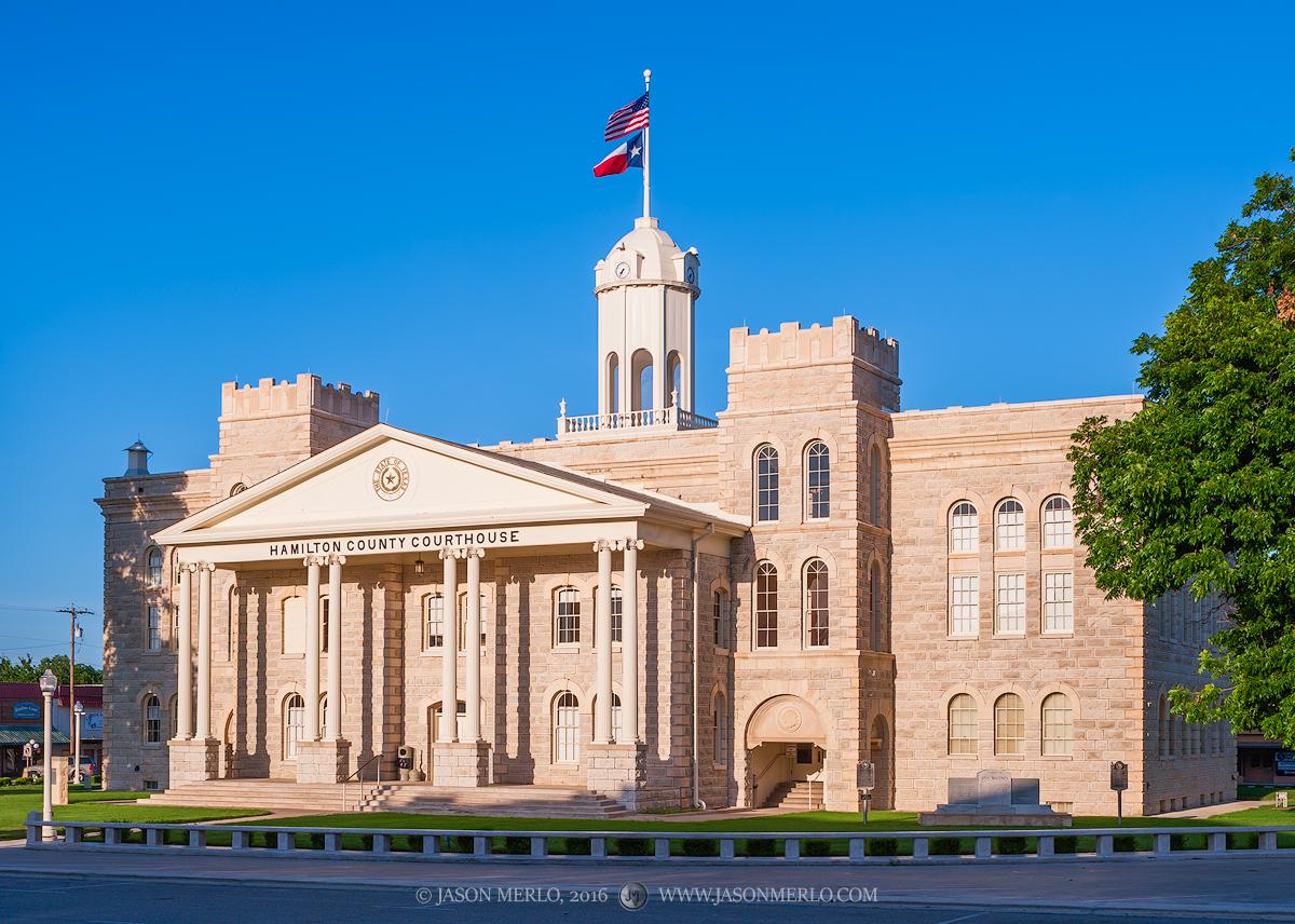 Hamilton, Hamilton County courthouse, Texas county courthouse, photo