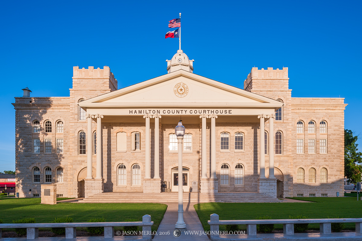 Hamilton, Hamilton County courthouse, Texas county courthouse, photo