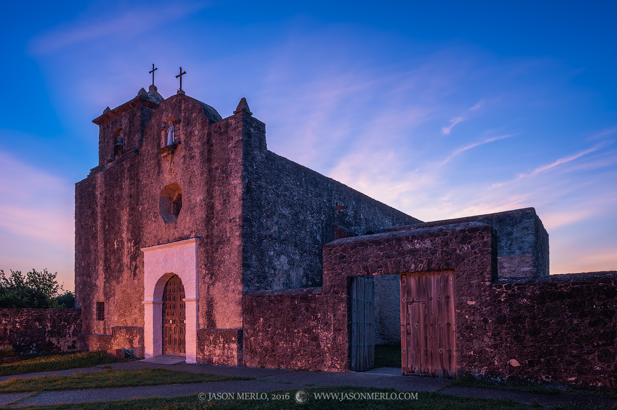 Presidio Nuestra Señora de Loreto de la Bahía, Goliad, South Texas, Presidio la Bahía, sunrise, chapel, photo