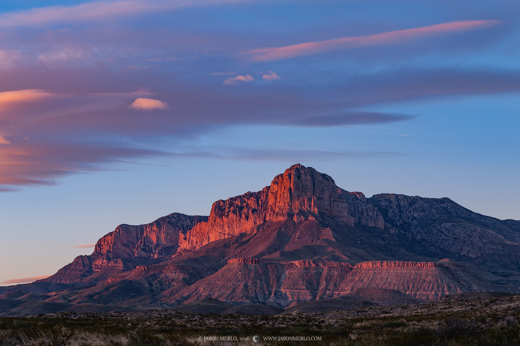 Guadalupe Mountains National Park, West Texas, Culberson County, sunset, El Capitán, Guadalupe Peak, Shumard Peak, Bartlett Peak, Bush Mountain, Hunter Peak, photo