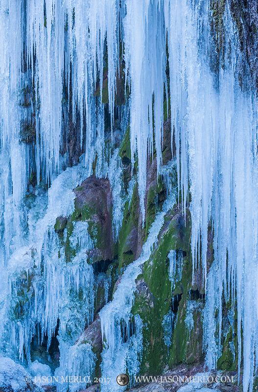 Colorado Bend State Park, Texas Hill Country, San Saba County, Gorman Falls, icicles, waterfall, frozen, photo