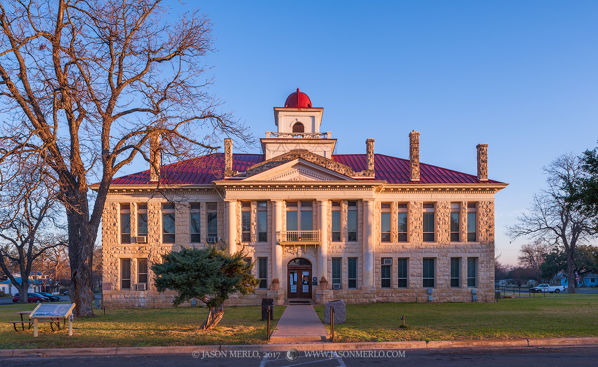 Johnson City, Blanco County courthouse, Texas county courthouse, photo