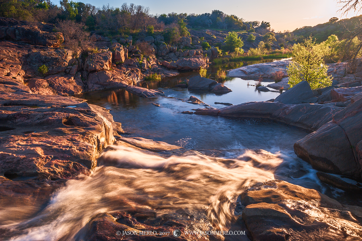 Inks Lake State Park, Texas Hill Country, Burnet County, Llano Uplift, waterfall, Spring Creek, photo