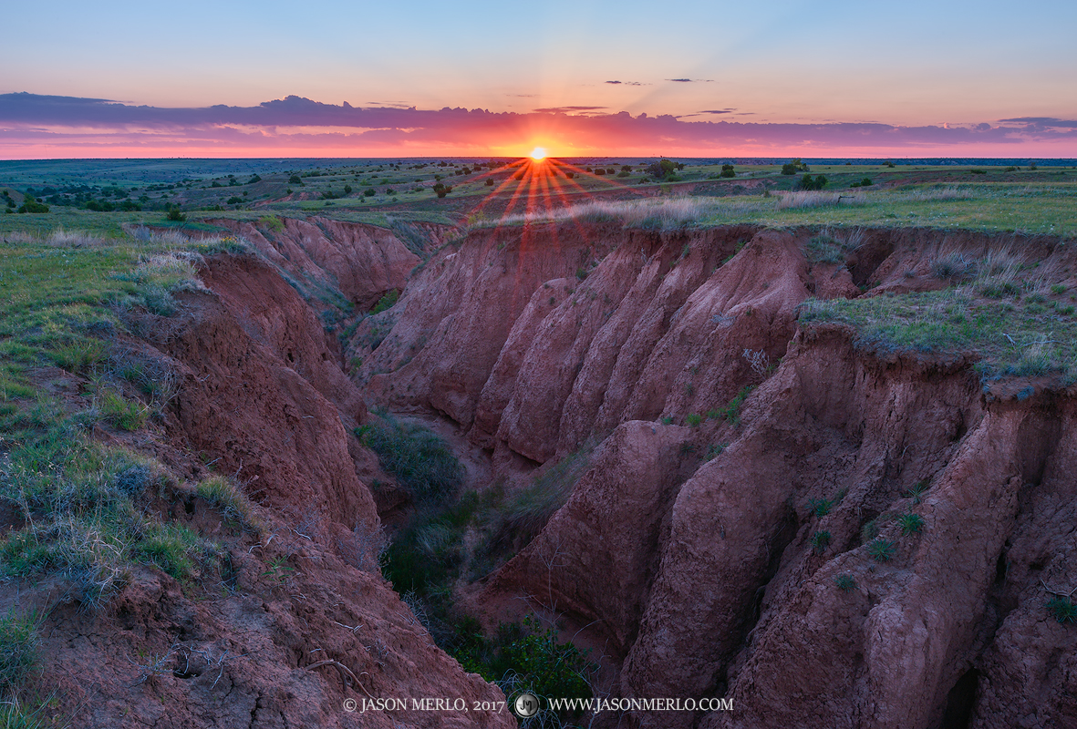 Armstrong County, Claude, Texas Panhandle Plains, North Texas, West Texas, Llano Estacado, High Plains, canyon, sunrise, photo