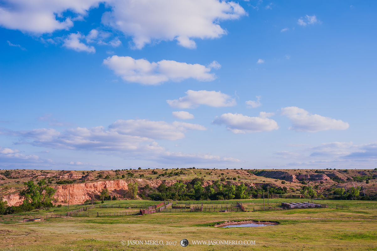 Armstrong County, Claude, Texas Panhandle Plains, North Texas, West Texas, Llano Estacado, High Plains, corral, tank, photo