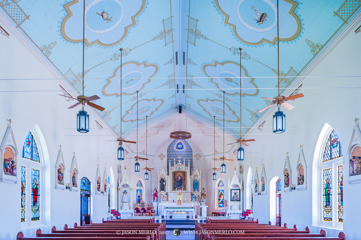 Immaculate Conception of the Blessed Virgin Mary Catholic Church, Panna Maria, Karnes County, Painted Churches of Texas, photo